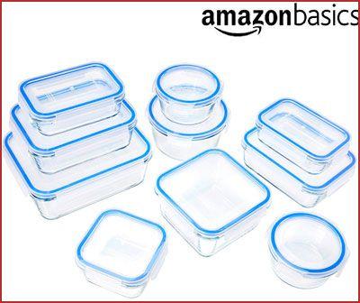 Oferta recipientes de cristal AmazonBasics baratos