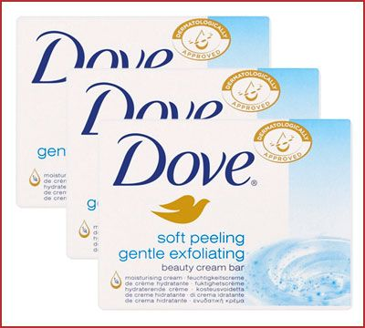 Oferta pack de 3 pastillas jabón Dove Exfoliante barato