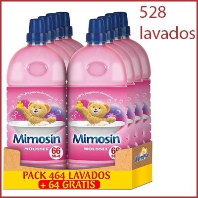 Oferta pack Mimosín fragancia Moussel 528 lavados
