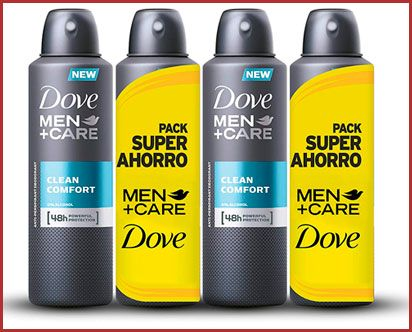 Oferta pack de 4 desodorantes Dove Men Clean Comfort
