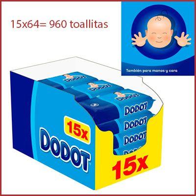 Oferta pack 960 toallitas Dodot