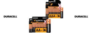 Oferta pack de 36 pilas alcalinas Duracell Plus baratas amazon