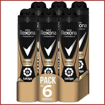 Oferta pack 6 desodorantes Rexona Football