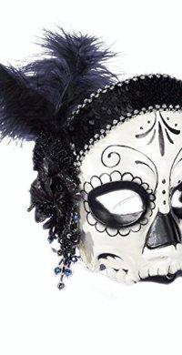Flapper Dia De Los Muertos Mask