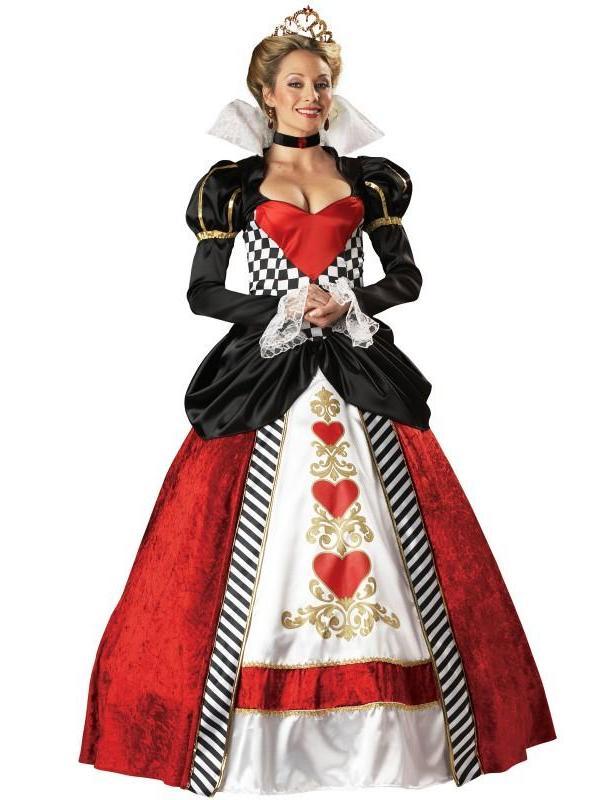 """alt=""""queen of hearts renaissance long dress costume"""""""