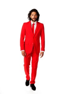 "alt=""red suit devil party costume"""