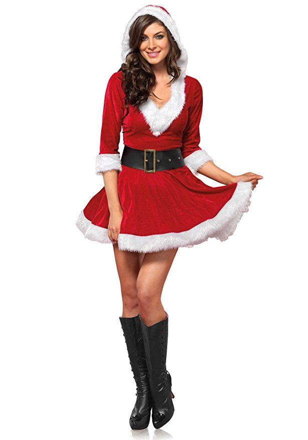 "alt=""short santa clause red dress"""