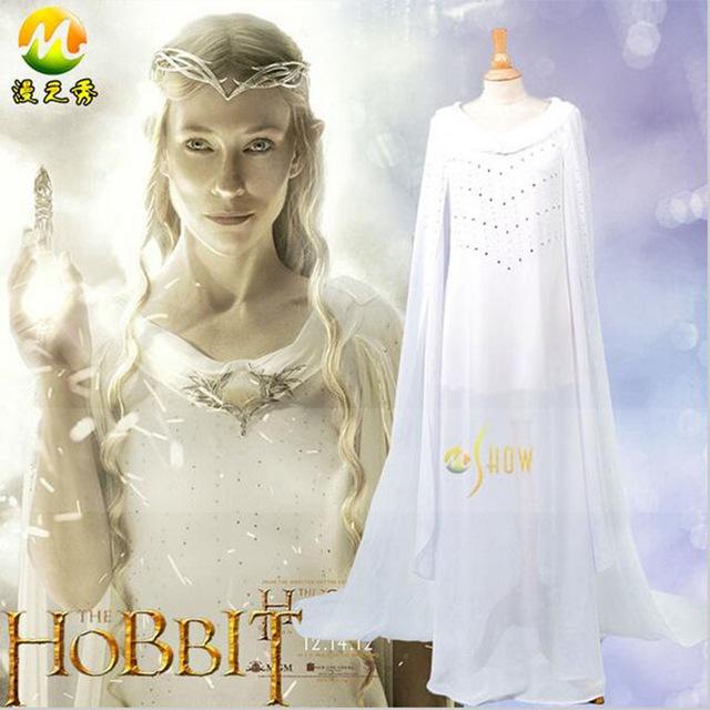 """alt=""""the hobbit fairy queen galadriel cosplay costume"""