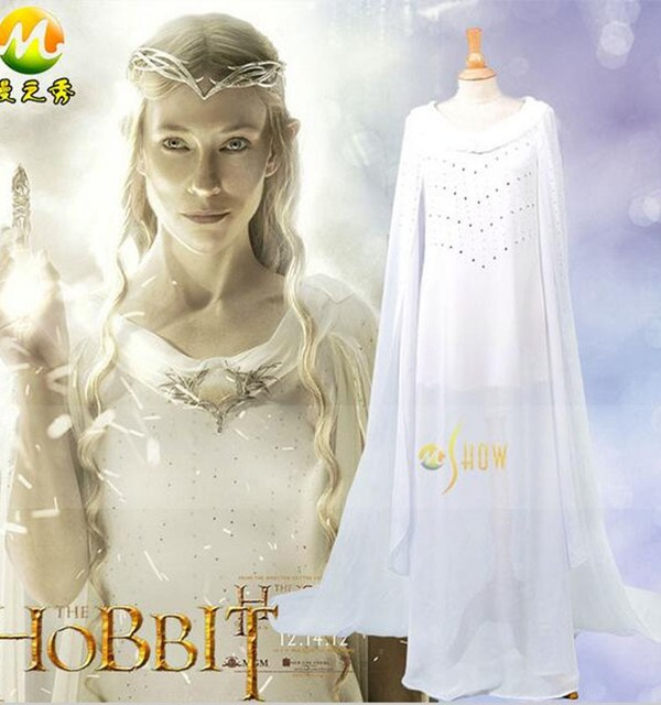 "alt=""the hobbit fairy queen galadriel cosplay costume"