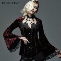 """alt=""""punk rave gothic lace Victorian jacket"""""""