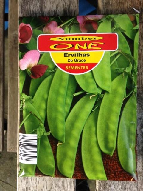 Sementes usadas ervilhas