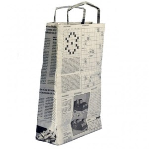 Bolsa papel reciclado mediana