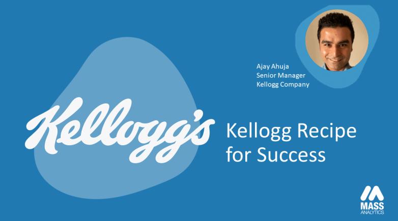 Ajay Ahuja presents Kellogg recipe for ROI optimization success.