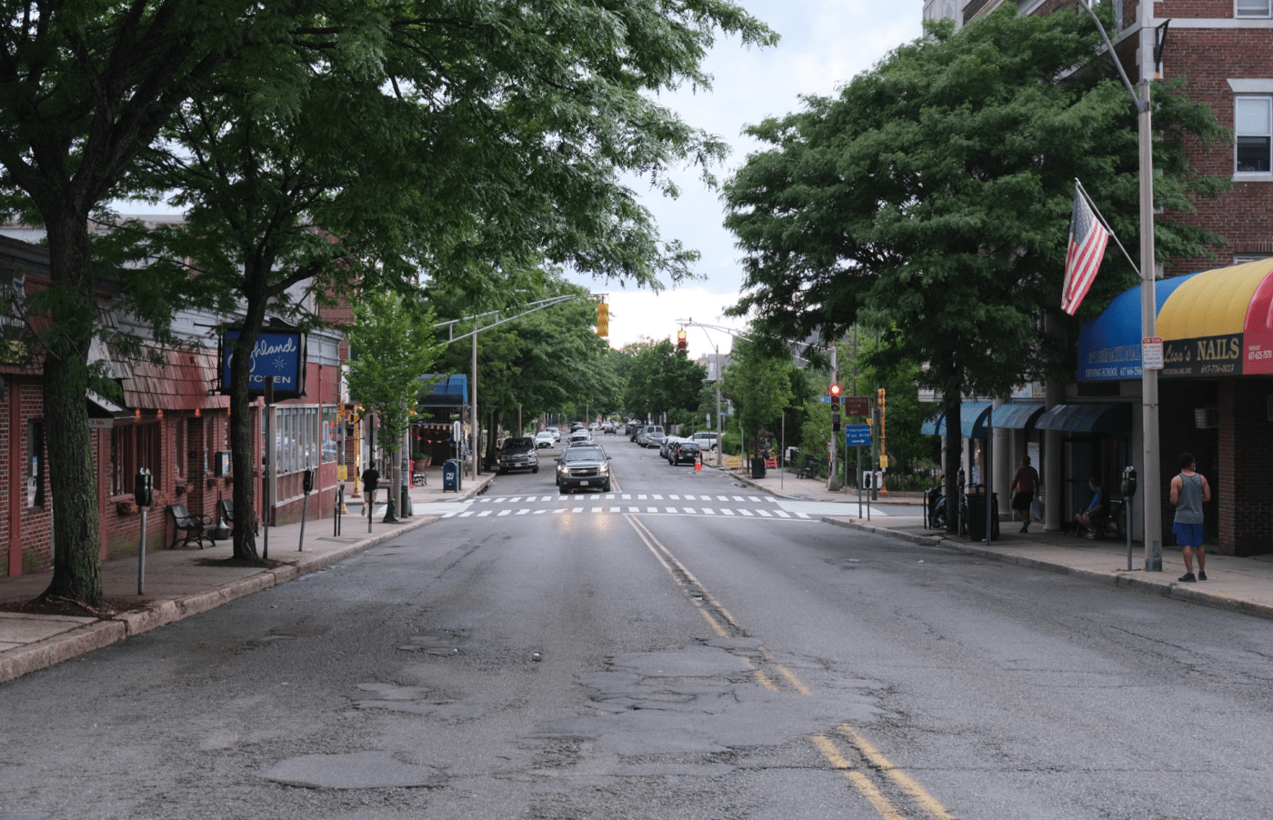 Highland Avenue near Central St. in 2020.