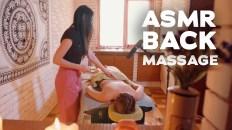 ASMR BACK MASSAGE   COMPILATION   BEST MOMENTS