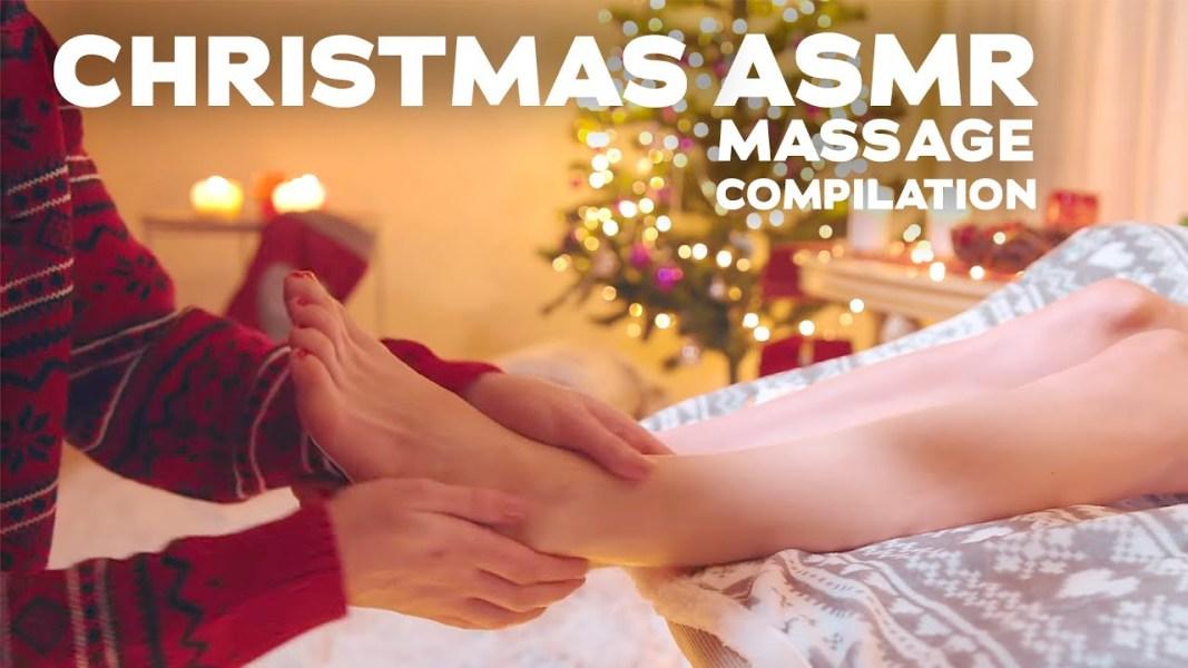 CHRISTMAS ASMR MASSAGE COMPILATION
