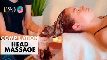HEAD MASSAGE ASMR NO TALKING (hair washing shoulders)   COMPILATION
