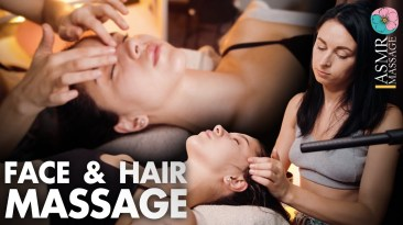 ASMR Face and Hair relaxing spa massage no talking by Anna