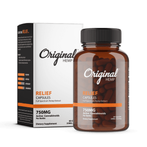 Relief CBD Capsules 750mg | Original Hemp