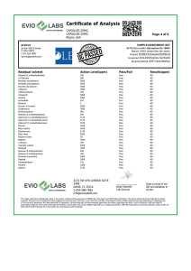 Isolate CBD Capsules 30 count 25mg COA pg4 | Proleve CBD