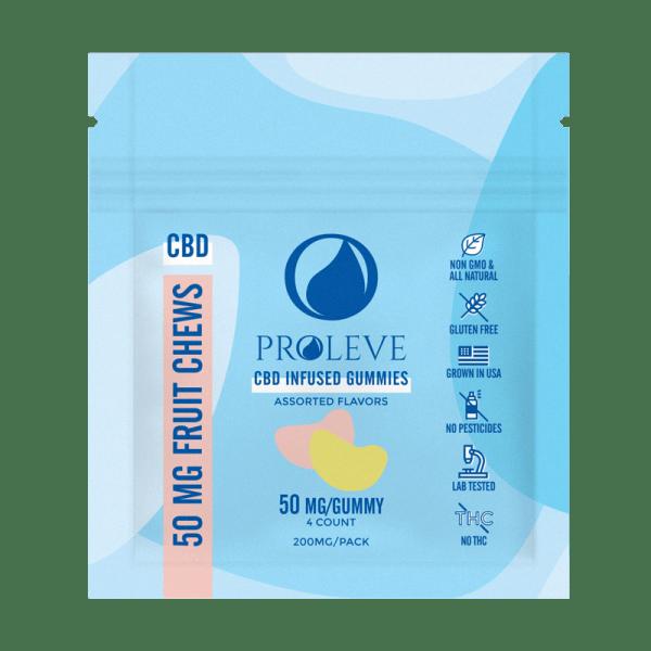 50mg CBD Gummy Slices 4ct ft | Proleve CBD