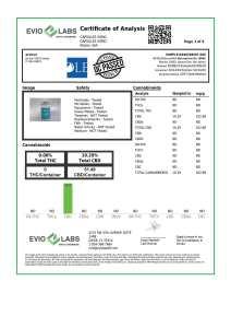 Isolate CBD Capsules 30 count 50mg COA pg1 | Proleve CBD