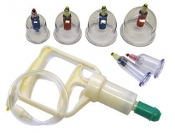 Massage suction cupping set.