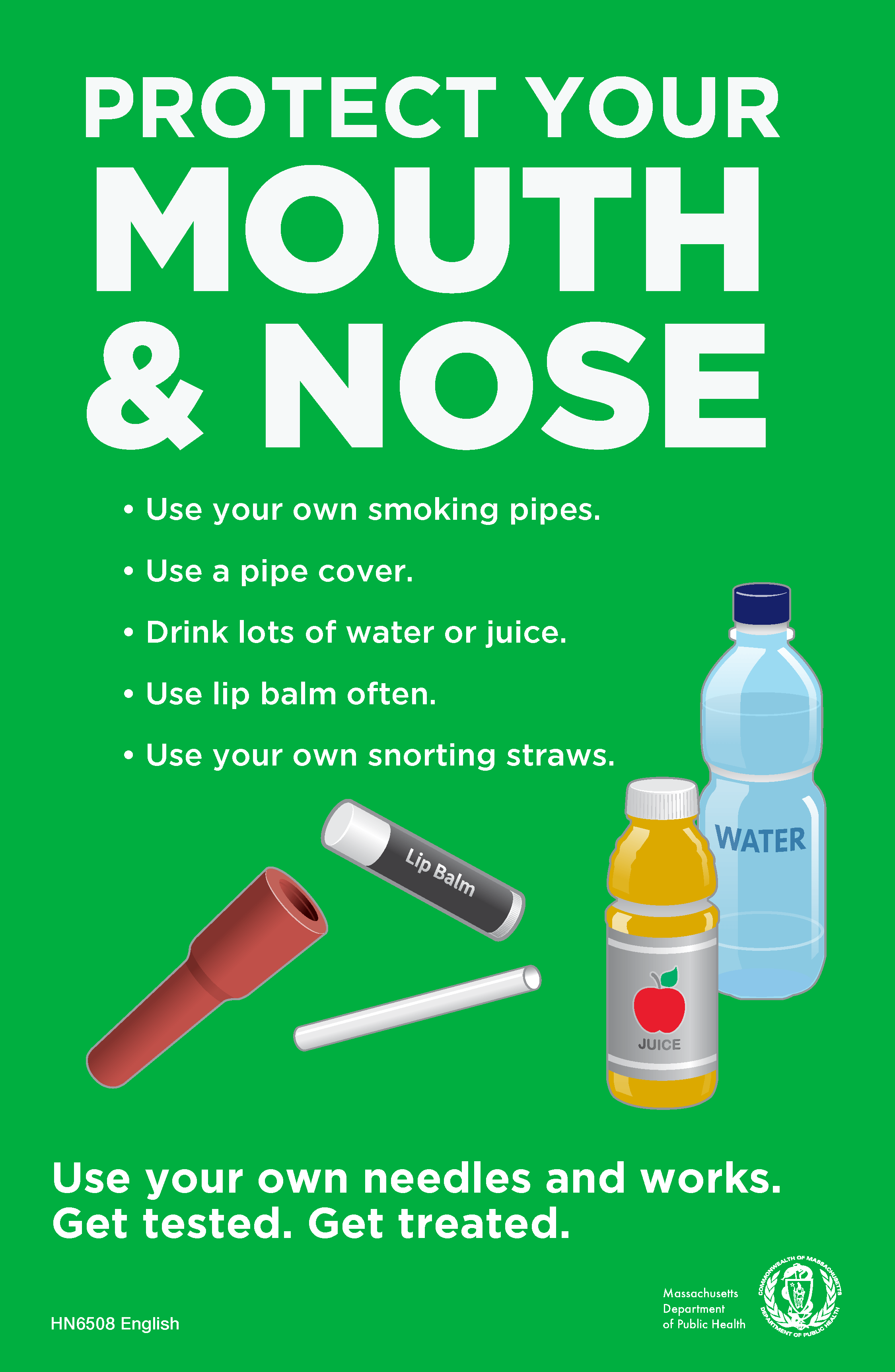 Protect Your Mouth Amp Nose Small Poster Massachusetts