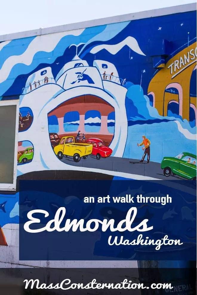 an art walk through Edmonds, Washington