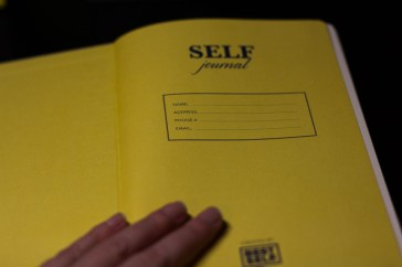 A personalized front page - Best Self Journal Unboxing