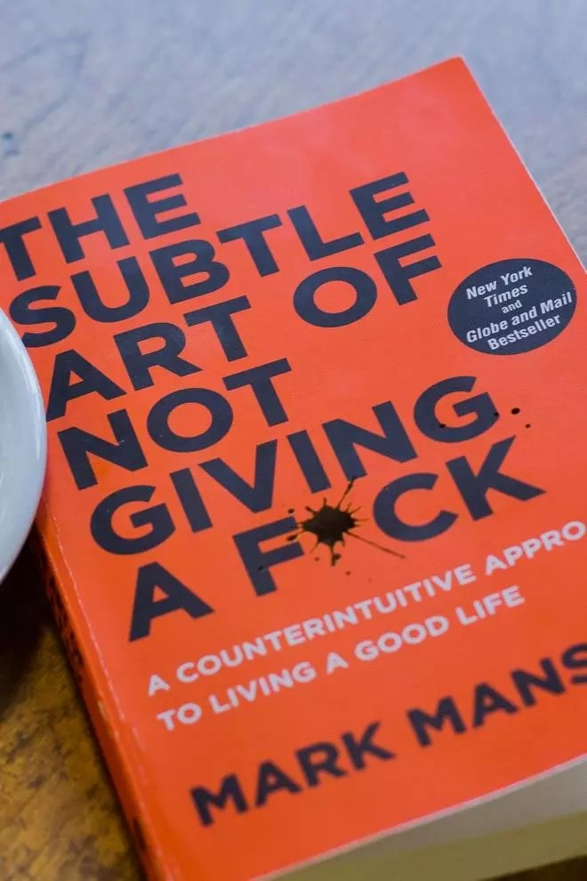 2017's buzz self-help book. The Subtle Art of Not Giving a Fuck by Mark Manson.