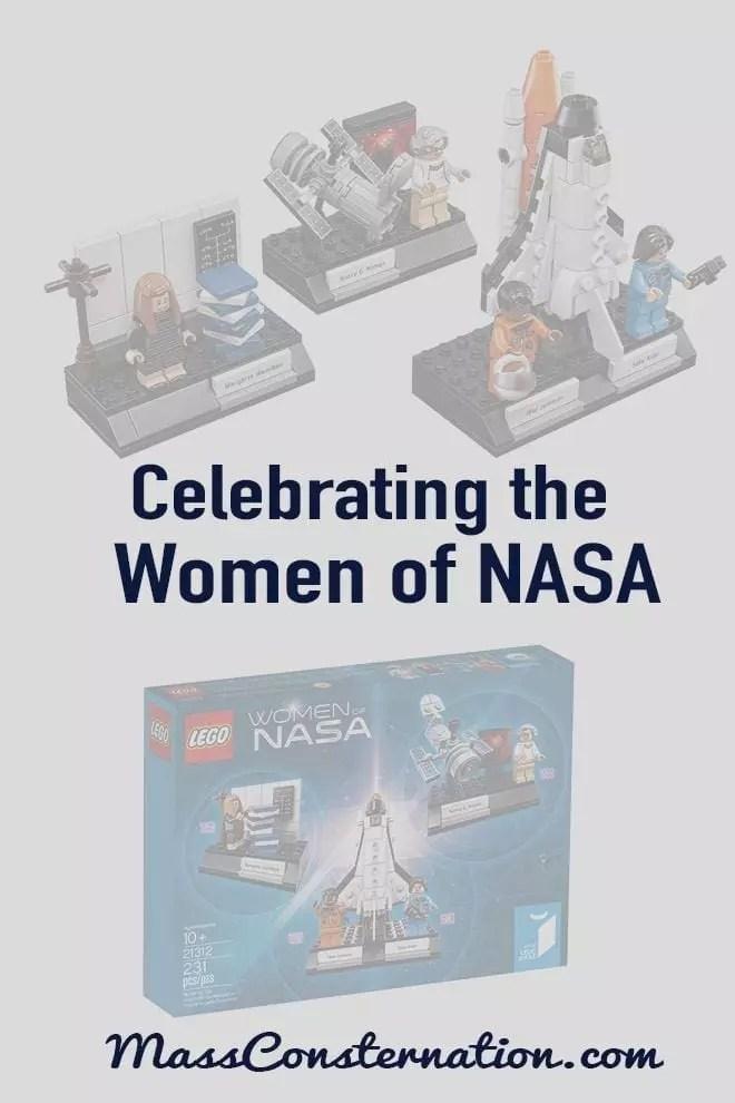 Do you know Margaret Hamilton, Sally Ride, Mae Jemison, and Nancy Grace Roman are? You should. Women of NASA Lego Set.