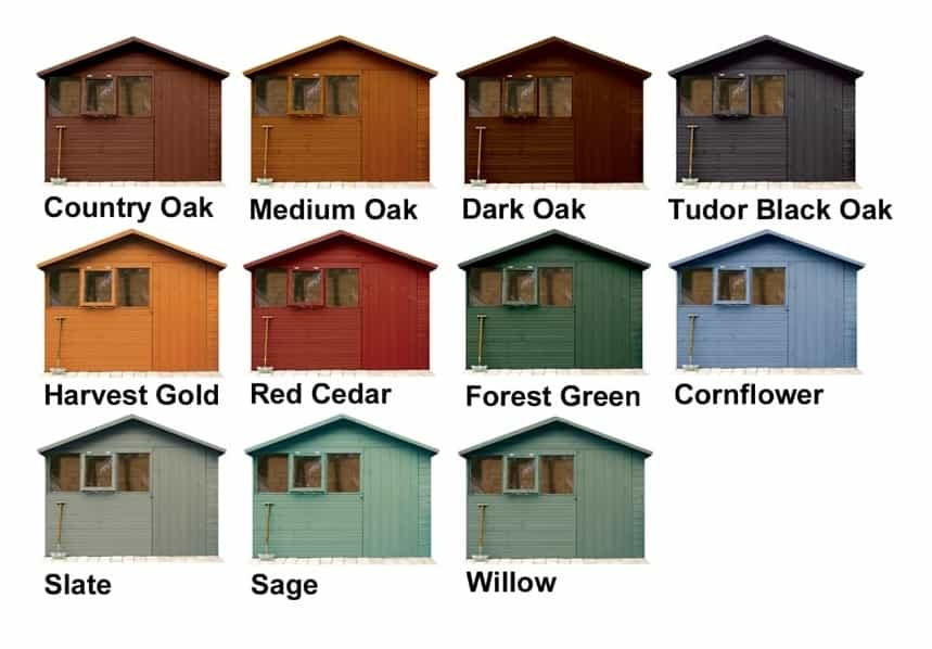 Shed Paint Colours