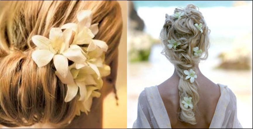How To Accent Wedding Hair With Real Flowers