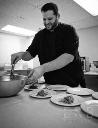 Chef Al Maykel from EVO on Chandler Street in Worcester, MA preparing his meal at Worcester's Best Chef