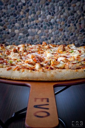 Pizza served at EVO Restaurant on Chandler Street in Worcester, Photo by Erb Photo