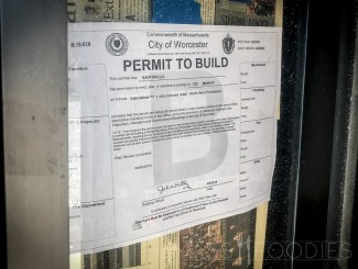 The building permit for Crust's expansion as North Main Provisions.