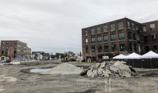 Construction starting at Kelley Square Market