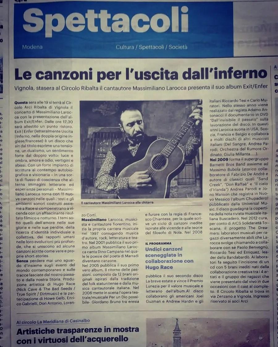 Resto del Carlino Modena - 2 febbraio 2020