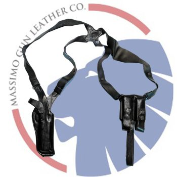 Leather Shoulder Gun Holster LH RH For Glock 26 27 33 w// CT Laserguard