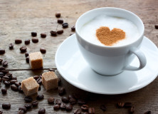 cup of coffee with a heart of cinnamon