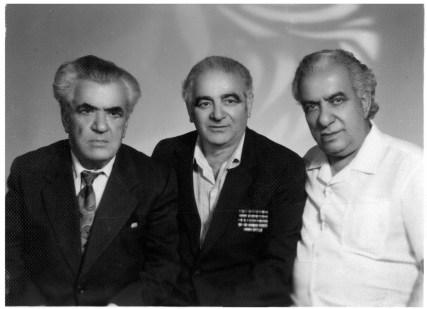 Dr. Kachatryan (right), Josef Kogan (middle).