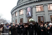 A final farewell to Aram Gharabekyan took place Aram Khachatryan Concert Hall