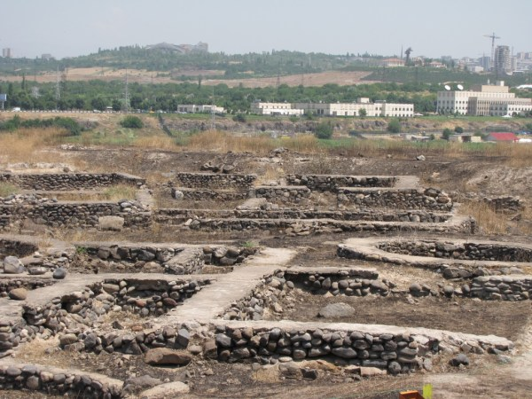 View of U.S. Embassy from Shengavit Historical and Archaeological Culture Preserve