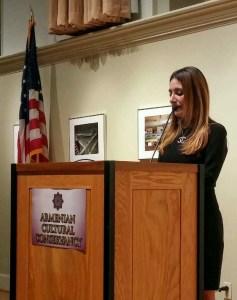 Mistress of ceremony Deborah Adishian-Astone