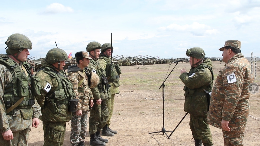 Armenia, Russia Hold Joint Military Exercises • MassisPost