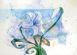Untitled Lily | Original Art by Miles Davis | Massive Burn Studios
