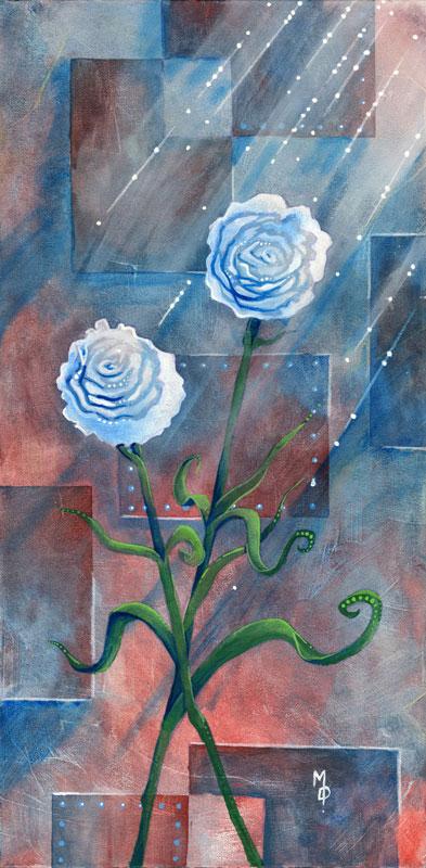 Industrial Carnations | Original Art by Miles Davis | Massive Burn Studios