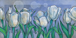 White Tulips | Original Art by Miles Davis | Massive Burn Studios