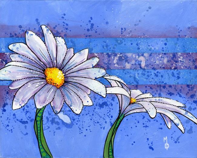 2 Daisies #1| Original Art by Miles Davis | Massive Burn Studios
